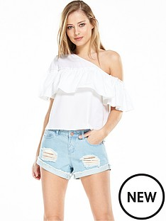 noisy-may-mella-one-shoulder-top-bright-white