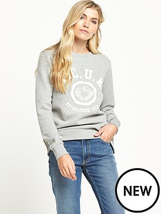 french-connection-vintage-king-sweat-long-sleeve-crew-neck-top