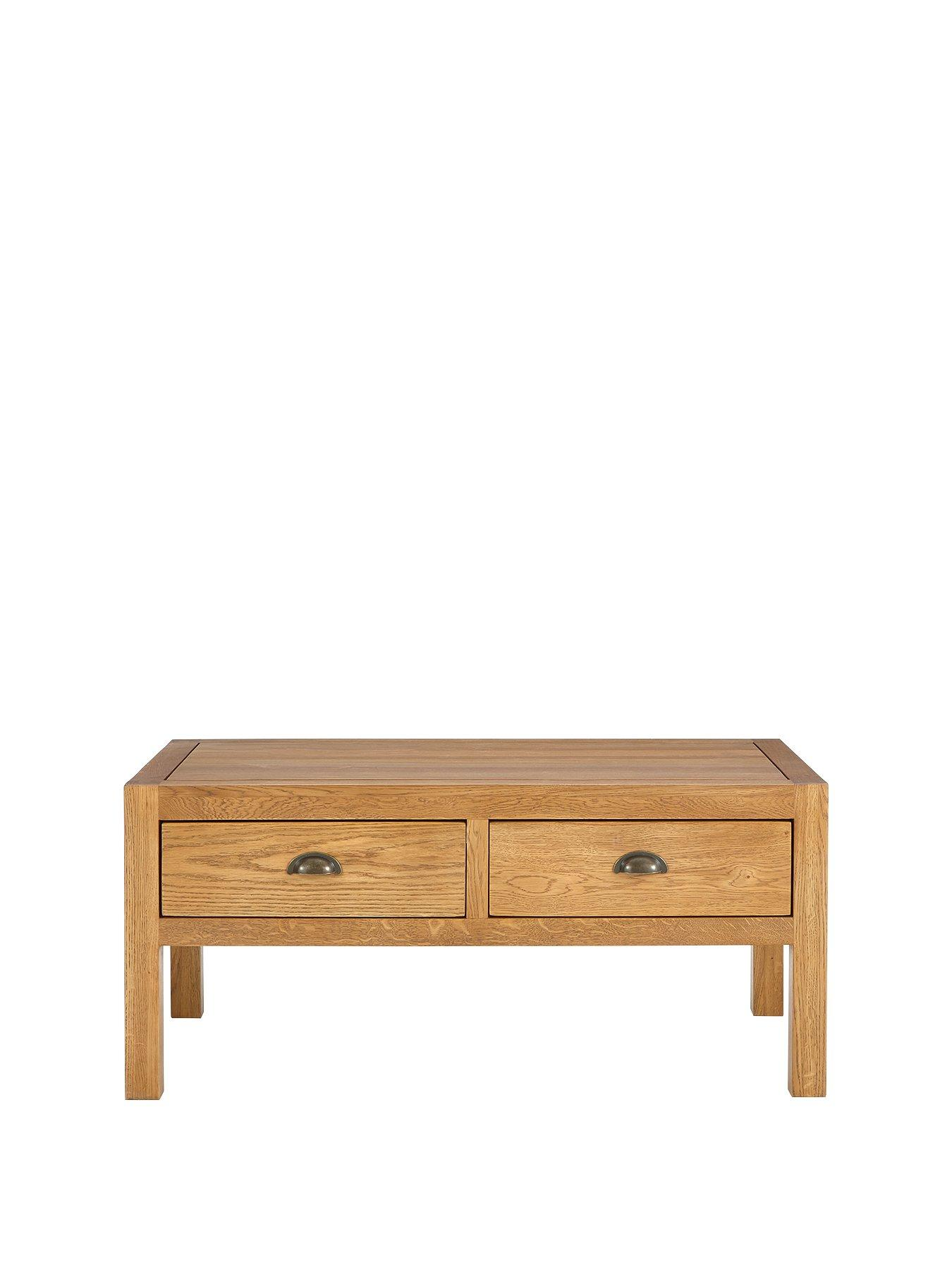 Luxe Collection   Grantham 100% Solid Oak Ready Assembled Coffee Table |  Littlewoods.com