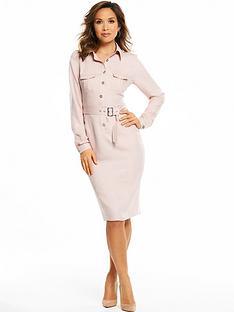myleene-klass-button-front-shirt-dress-blush