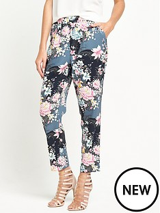 oasis-lotus-print-soft-trouser