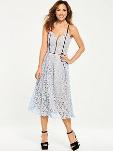 myleene-klass-contrast-strap-lace-dress