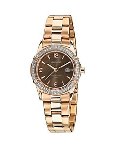 accurist-accurist-chocolate-dial-stone-bezel-rose-bracelet-ladies-watch