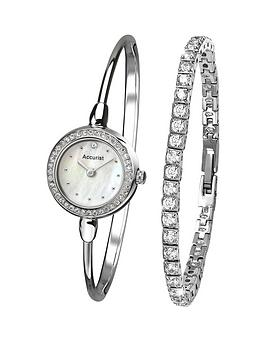 accurist-accurist-white-dial-bangle-style-amp-bracelet-ladies-watch-gift-set