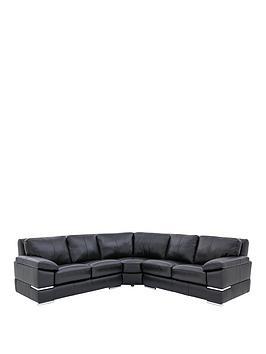 Very Primo Italian Leather Corner Group Sofa Picture