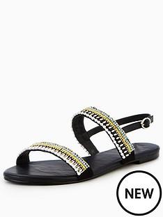 v-by-very-brianna-embellished-flat-sandal-black