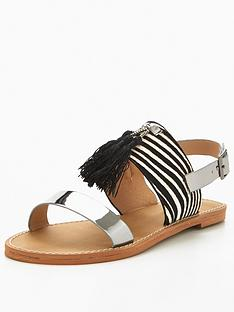v-by-very-kylie-zebra-tassel-flat-leather-sandal
