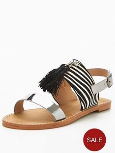 v-by-very-kylie-zebra-tassel-flat-leather-sandal