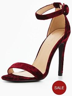 v-by-very-bella-ankle-strap-minimal-heeled-velvet-sandal-magenta