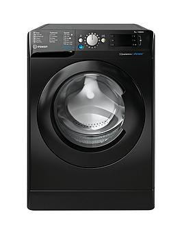 Indesit Indesit Bwe91484Xk 9Kg Load, 1400 Spin Washing Machine - Black Picture