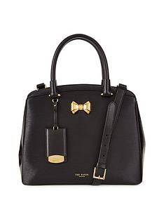 ted-baker-leather-curved-bow-small-zipped-tote