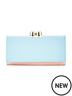 ted-baker-crystal-and-pearl-frame-matinee-purse-blue