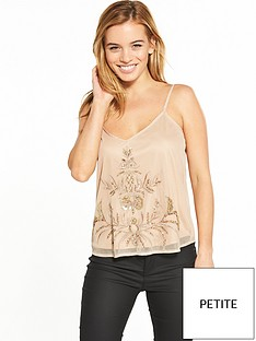 v-by-very-petite-embellished-mesh-cami