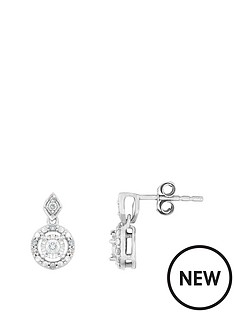love-diamond-9ct-white-gold-19-point-diamond-cluster-drop-earrings