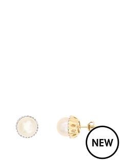 love-pearl-9ct-2-tone-16-point-diamond-amp-freshwater-pearl-round-stud-earrings