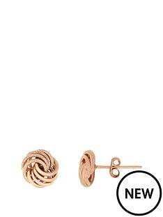bracci-bracci-9ct-rose-gold-8mm-textured-and-plain-knot-stud-earrings