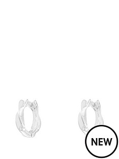 the-love-silver-collection-sterling-silver-plated-twirl-huggie-earrings