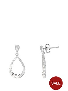 the-love-silver-collection-sterling-silver-rhodium-plated-cubic-zirconia-tear-drop-stud-earrings