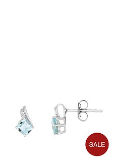 the-love-silver-collection-sterling-silver-rhodium-plated-075ct-blue-topaz-amp-cubic-zirconia-earrings