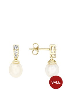 love-pearl-sterling-silver-gold-plated-freshwater-pearl-amp-cubic-zirconia-stud-earrings