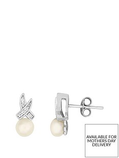love-pearl-sterling-silver-rhodium-plated-button-freshwater-pearl-cubic-zirconia-kiss-stud-earrings