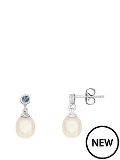 love-pearl-sterling-silver-rhodium-plated-25mm-blue-sapphire-and-oval-fesh-water-pearl-drop-earrings