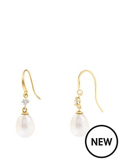 love-pearl-9ct-yellow-gold-9x7mm-oval-freshwater-pearl-amp-cubic-zirconia-hook-earrings