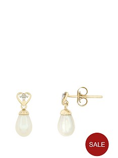 love-pearl-9ct-yellow-gold-diamond-set-amp-freshwater-pearl-drop-studs