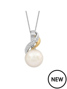 love-pearl-9ct-two-tone-diamond-set-amp-freshwater-pearl-pendant
