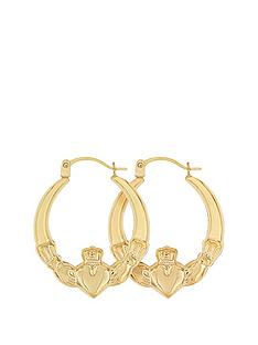 bracci-bracci-9ct-yellow-gold-claddagh-creole-earrings