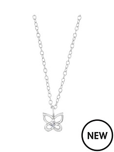 the-love-silver-collection-sterling-silver-cubic-zirconia-butterfly-kids-pendant