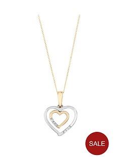 love-diamond-9ct-yellow-and-white-gold-diamond-set-heart-pendant