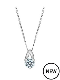 the-love-silver-collection-sterling-silver-round-cubic-zirconia-solitaire-pendant