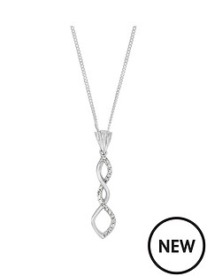 the-love-silver-collection-sterling-silver-cubic-zirconianbsptwist-pendant