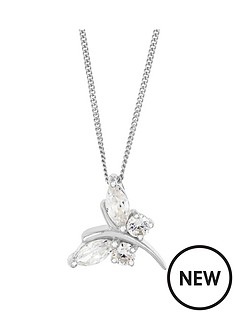 the-love-silver-collection-sterling-silver-white-cubic-zirconia-butterfly-pendant