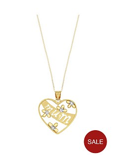 love-gold-9ct-yellow-gold-diamond-set-mum-heart-pendant