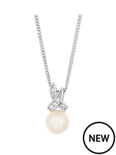 love-pearl-sterling-silver-rhodium-plated-button-freshwater-pearl-amp-cubic-zirconia-kiss-pendant