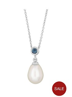 love-pearl-sterling-silver-rhodium-plated-3mm-blue-sapphire-and-oval-freshwater-pearl-necklace