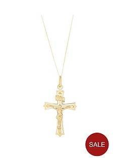 bracci-bracci-9ct-yellow-gold-crucifix-pendant-on-curb-chain