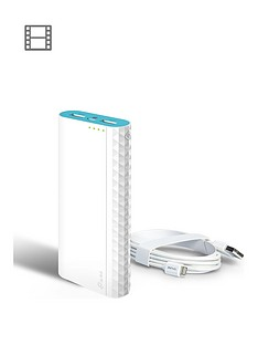 tp-link-tl-pb15600-15600mah-power-bank-ac210-lightning-cable-micro-usb-power-cable-bundle-white