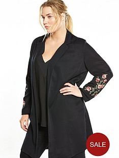 v-by-very-curve-embroidered-longline-jacket-black