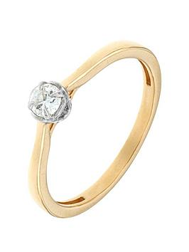 The Astral Diamond Astral Diamond 9 Carat Yellow Gold 15 Point Solitaire Diamond Engagement Ring