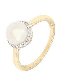 love-pearl-9ct-2-tone-8-point-diamond-amp-freshwater-pearl-round-ring