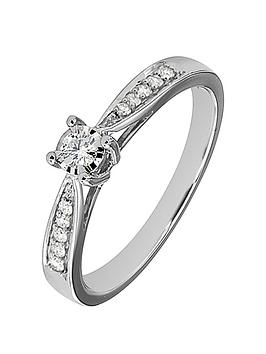 Love DIAMOND Love Diamond 9Ct White Gold 19 Point Diamond Engagement Ring Picture