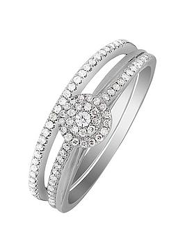 love-diamond-9ct-white-gold-25-point-diamond-bridal-ring-set
