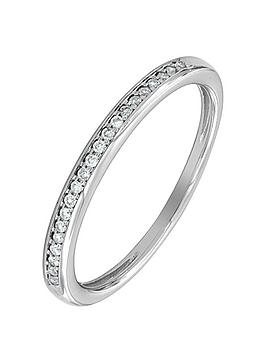 Love DIAMOND Love Diamond 9Ct White Gold 8 Point Diamond Wedding Band Picture