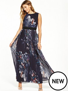 little-mistress-dark-base-floral-pleat-maxi-dress