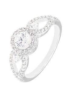 the-love-silver-collection-sterling-silver-white-cubic-zirconia-halo-ring