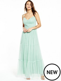 little-mistress-little-mistress-mesh-satin-band-maxi-dress