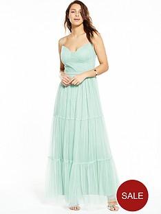 little-mistress-mesh-satin-band-maxi-dress